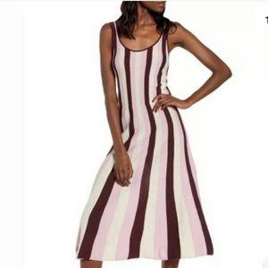 Leith vertical knit maxi dress